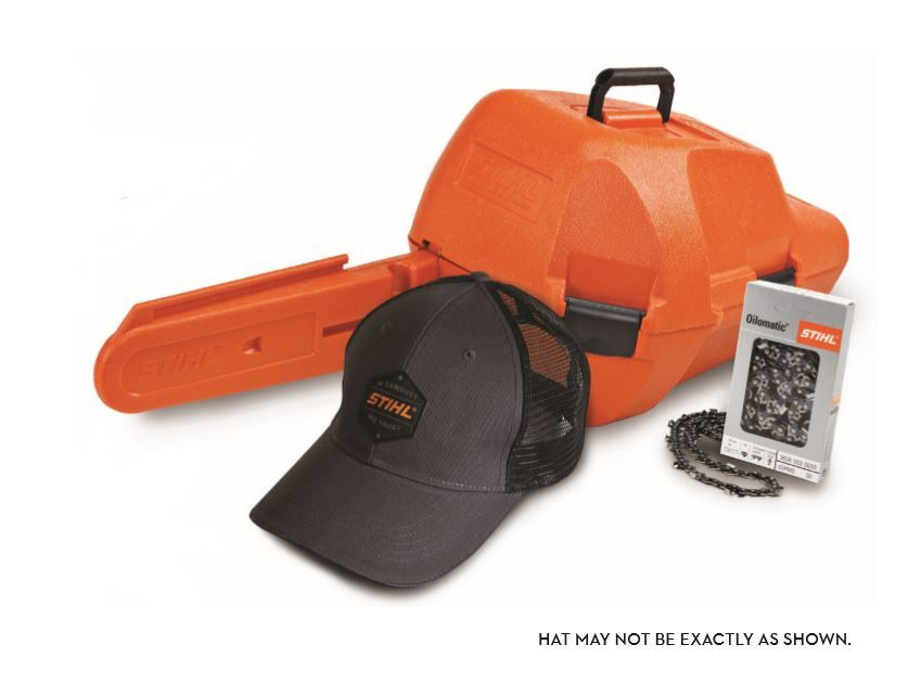 Receive a Free Wood-Pro Chainsaw Kit with the purchase this qualifying chainsaw. Offer valid in-store only. The STIHL Wood-Pro Kit promotion is in effect until November 30,2019 or while supplies last.