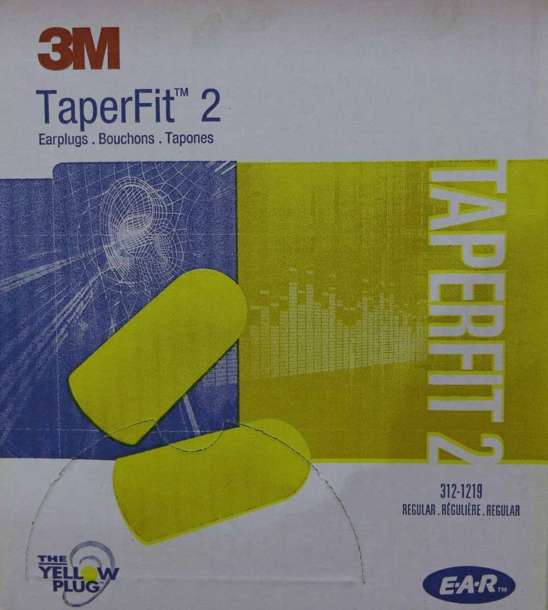 3M TaperFit2 Single-Use Earplugs