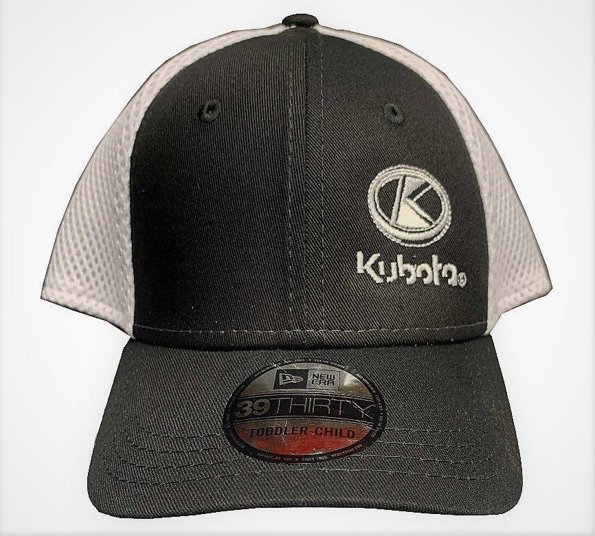Kubota Toddler Hat - in black and white. NEW ERA 39THIRTY