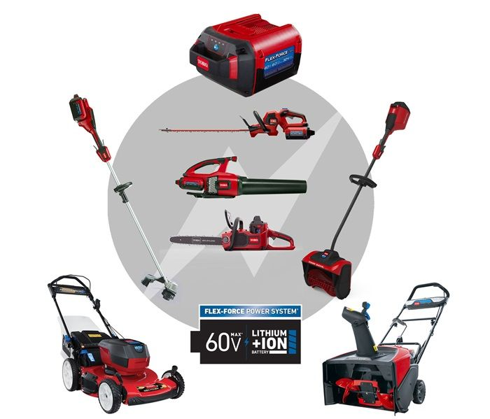 All-Season Power & Versatility- More products in the Flex-Force Power System®, from mowers to string trimmers to snow blowers. Use your mower battery to power all of these great tools!