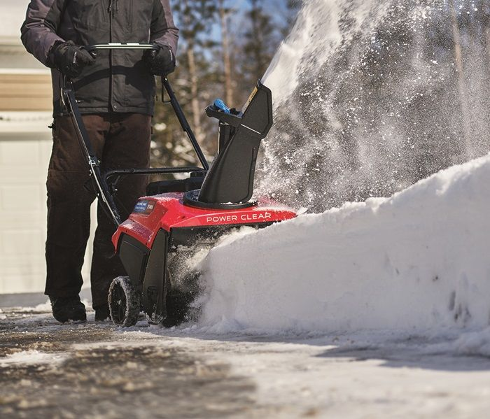 Toro's powerful 252cc 4-cycle OHV engines give you the power to slice through snow faster and throw it up to 35 feet.