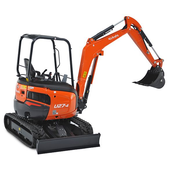 Kubota U27-4 Tight Tail Swing Compact Excavator