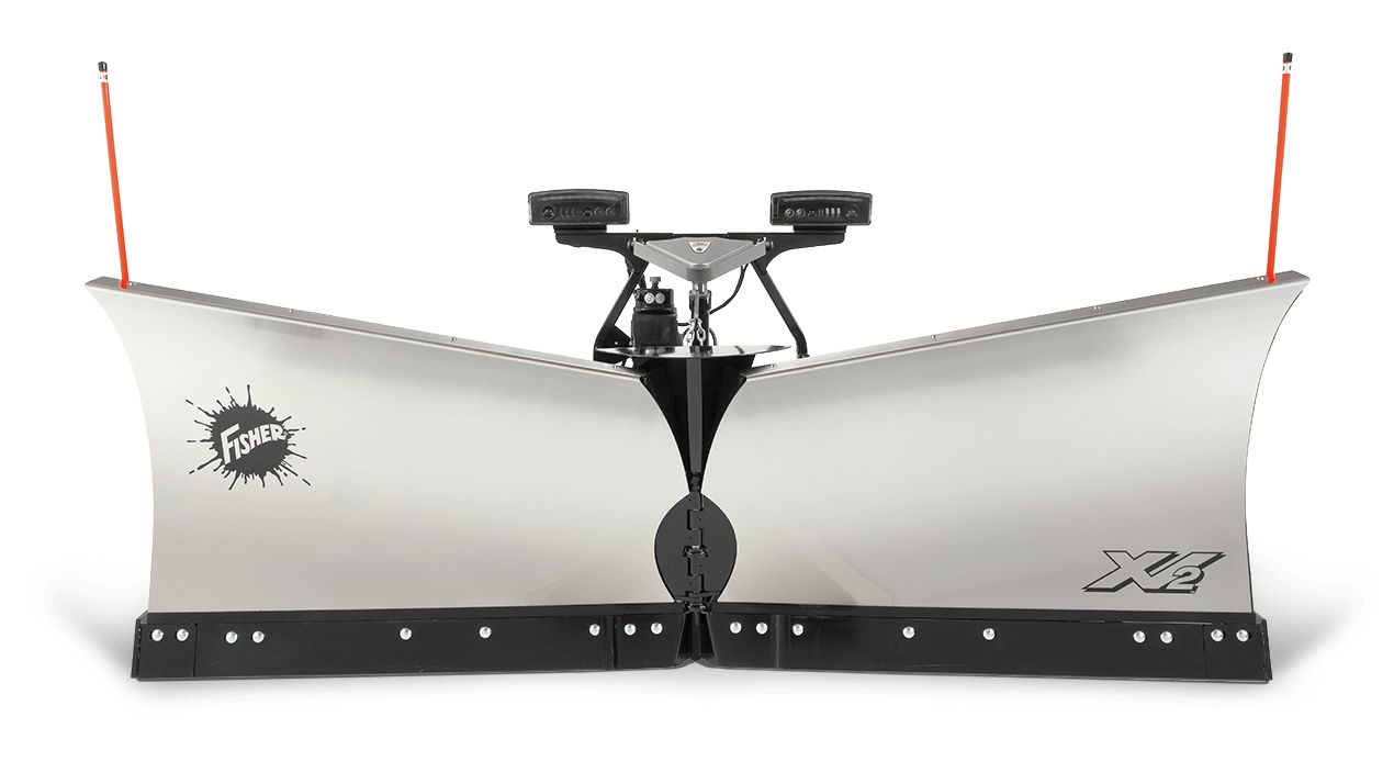"Fisher 7'6"" XV2 Stainless Steel V-Plow"