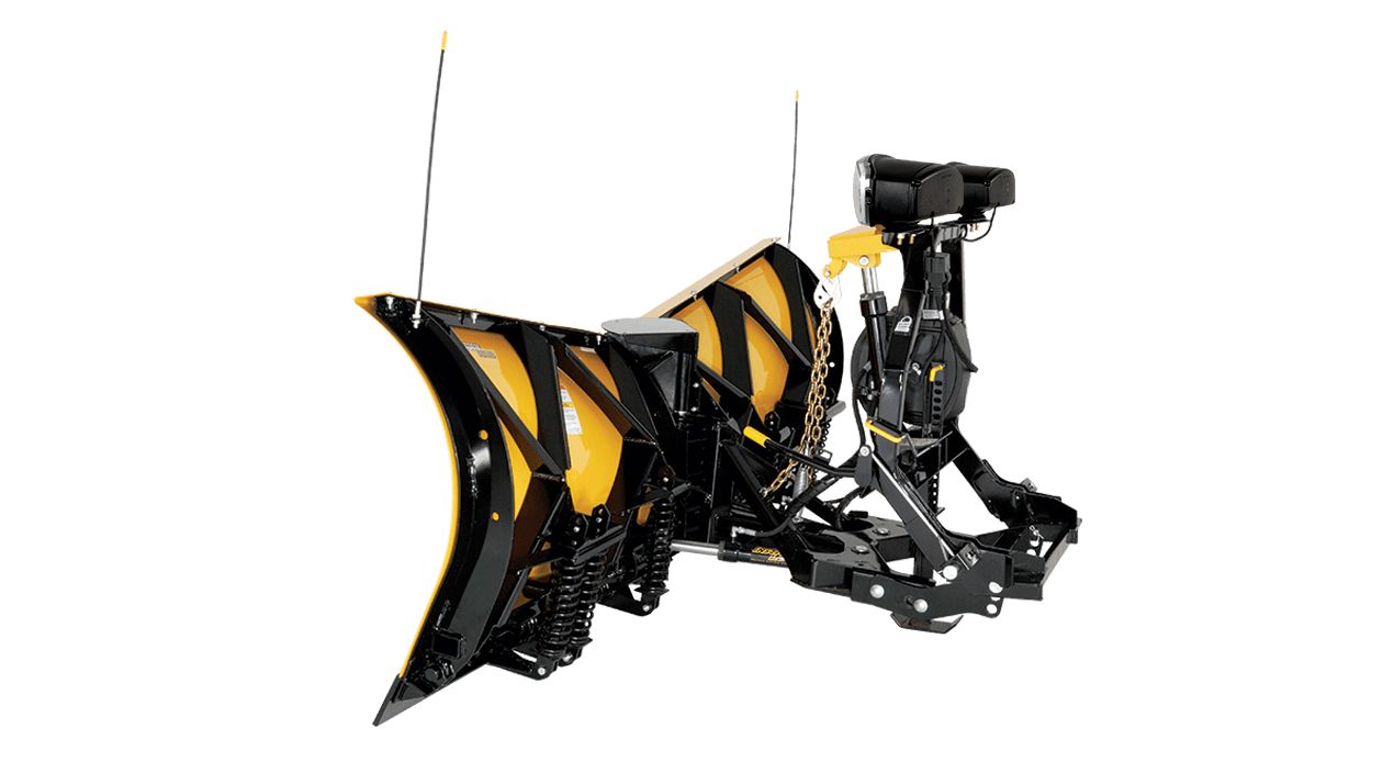 "Fisher 9'6"" XtremeV PC Steel V-Plow Side-View"