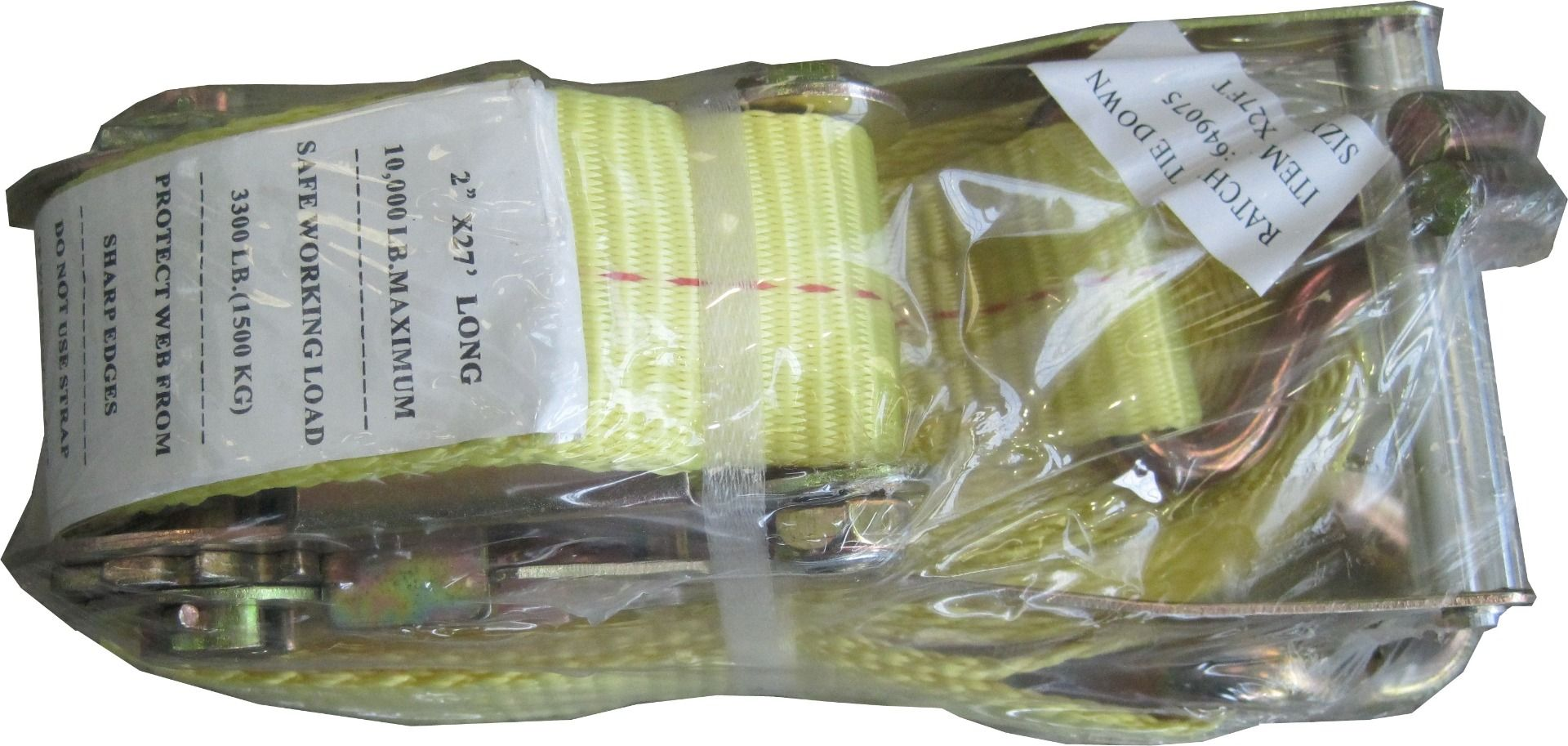 Yellow Ratchet Strap 2 inches x 27 feet long