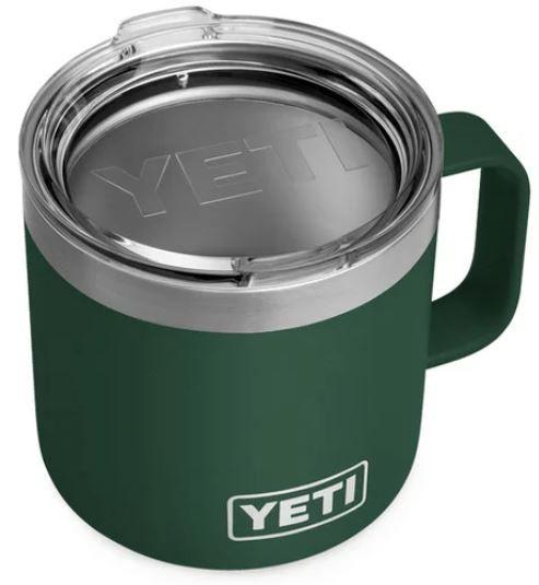 YETI 14oz Rambler Mug with Standard Lid in Northern Green