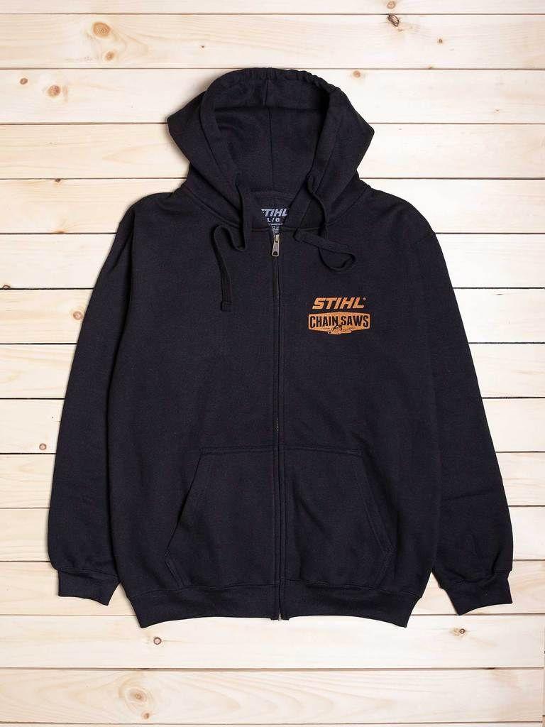 STIHL Chain Saws Zip Hooded Sweatshirt