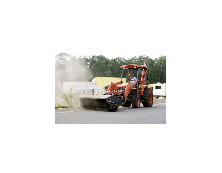 "A rare feature for this type of TLB, Kubota's backhoe crawling mode allows you to move at ""creep"" speed while at the controls of the backhoe. This is especially time saving when repositioning along lengthy trendes."