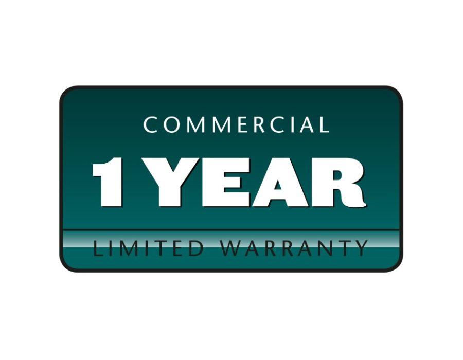 1 -Year Commercial Warranty