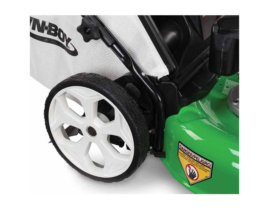 """High Wheel - The 11"""" high rear wheels assist you in tackling uneven or rough terrain."""