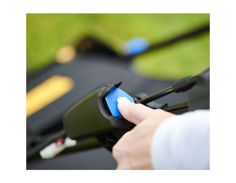 Easy Start - Simply push a button and you are ready to mow; no need to pull a recoil cord to start the engine.