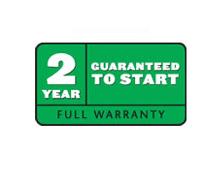 2-Year Guaranteed-to-Start Warranty
