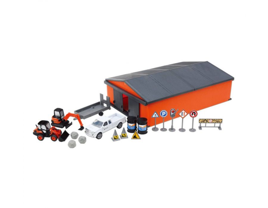 Kubota Farm Set with Vehicles, Animals & Shed