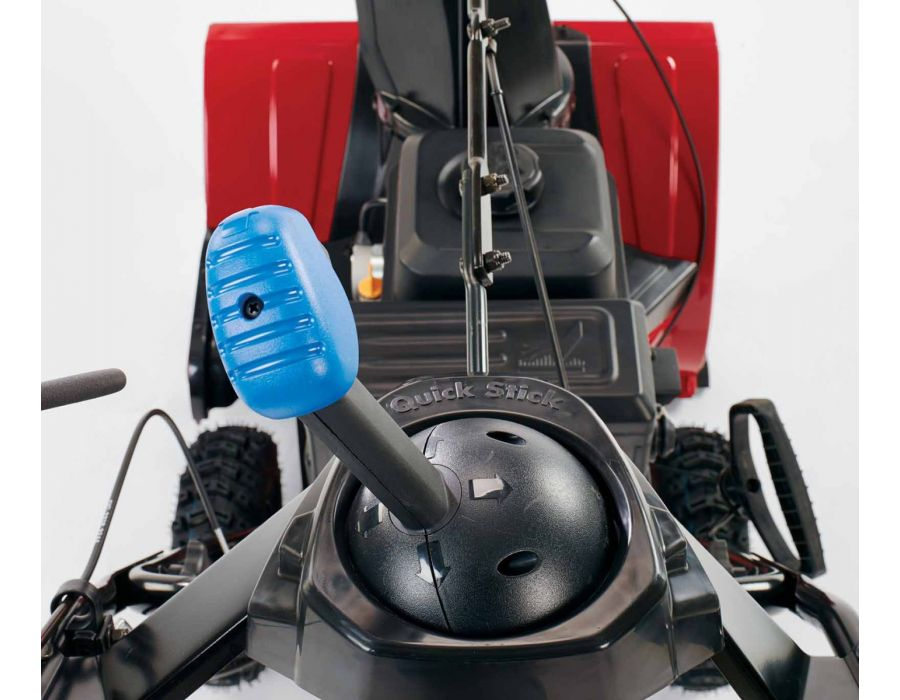 Innovative joystick control allows you to change chute direction and angle quickly and easily on the go