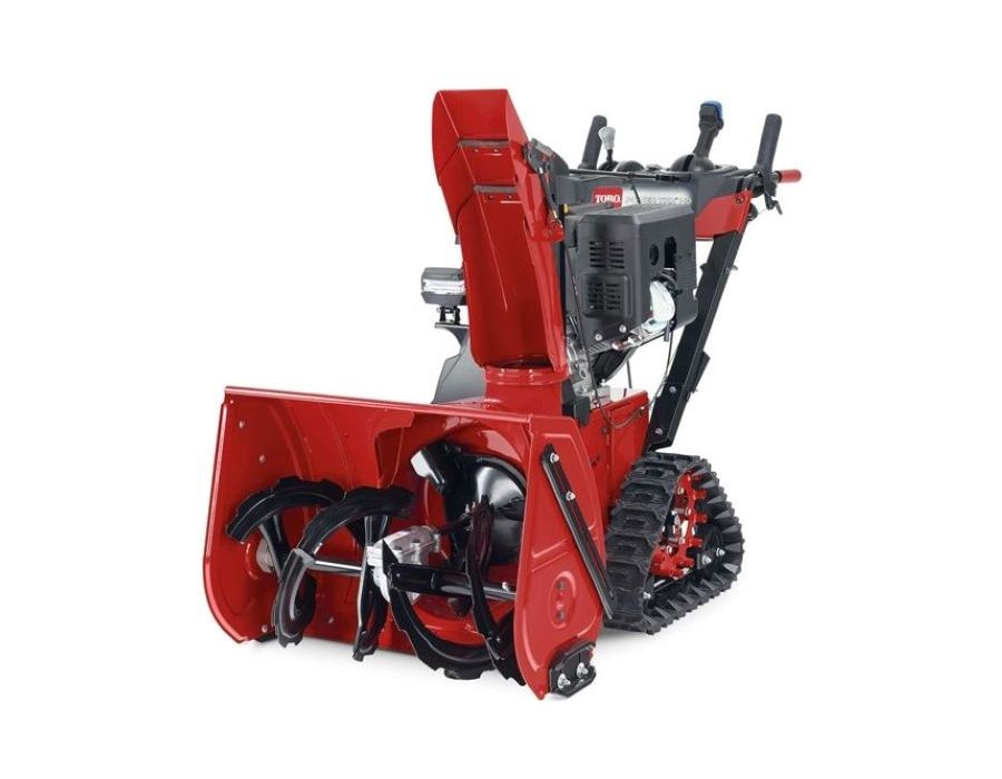 Adjust with Ease With the push of a lever, adjust your housing up for climbing and transport, flat to blow snow off a driveway or down to dig into deep snow with Toro's Quick-Adjust auger housing lever.