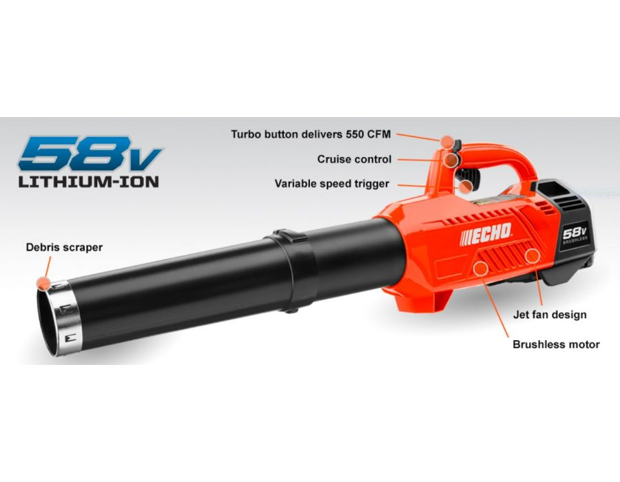 ECHO 58V Lithium Ion Battery Powered Blower