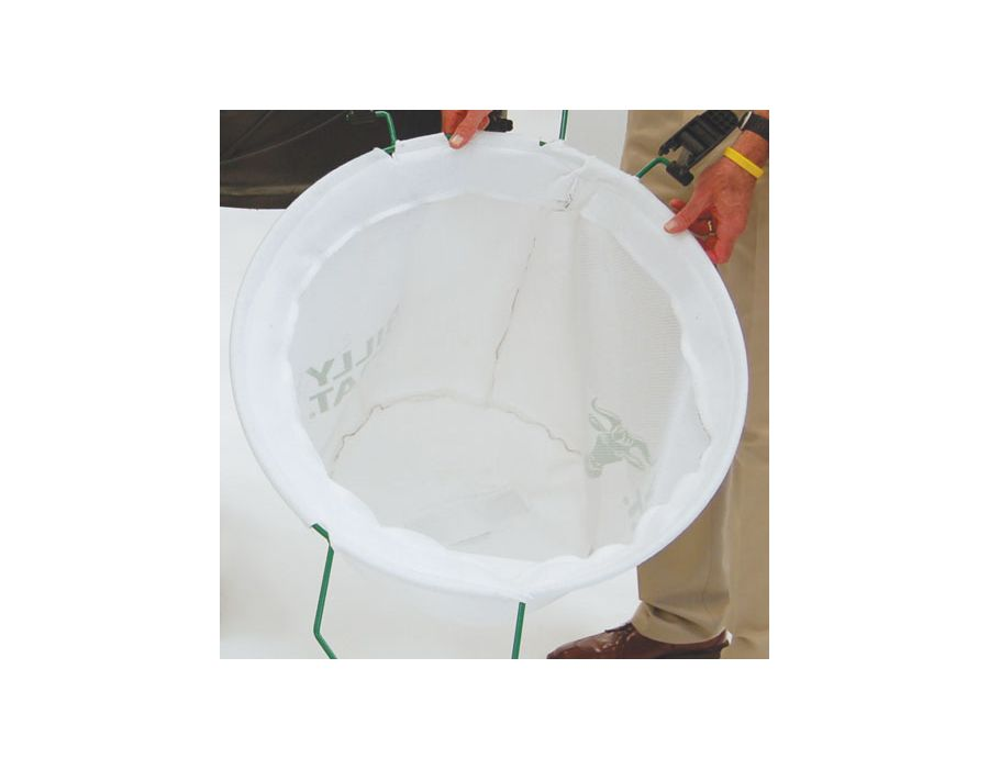 Turf Bag - Large 36 gal. capacity. Add dust sock for minimal dust in dry conditions.