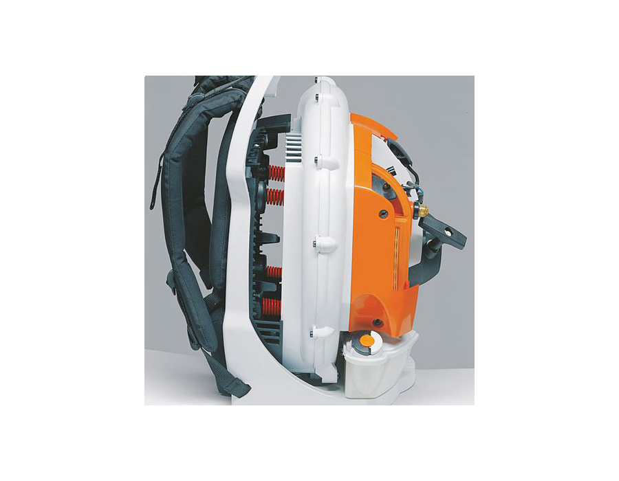 STIHL developed the anti-vibration system whereby the oscillations from the machine's engine are dampened which significantly reduces vibrations at the handles.