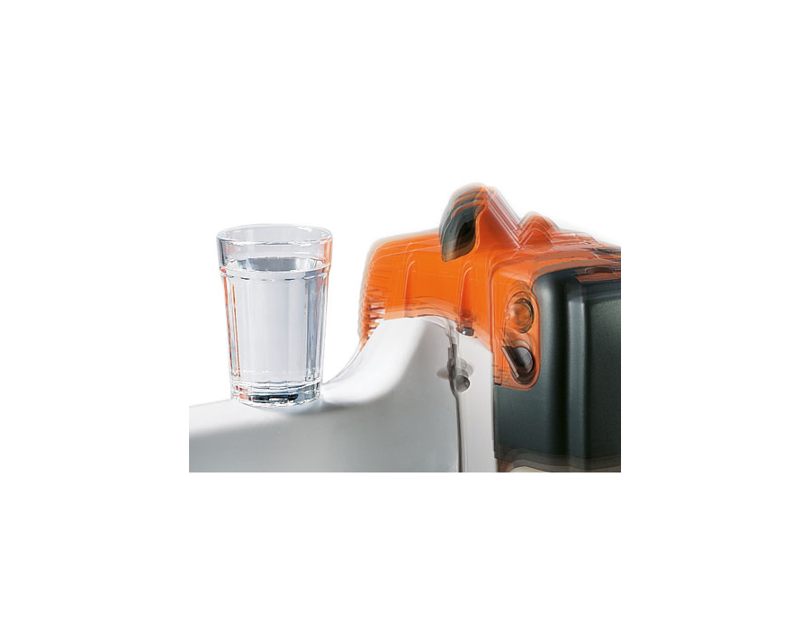 Anti-vibration system whereby the oscillations from the machine's engine are dampened which significantly reduces vibrations at the handles