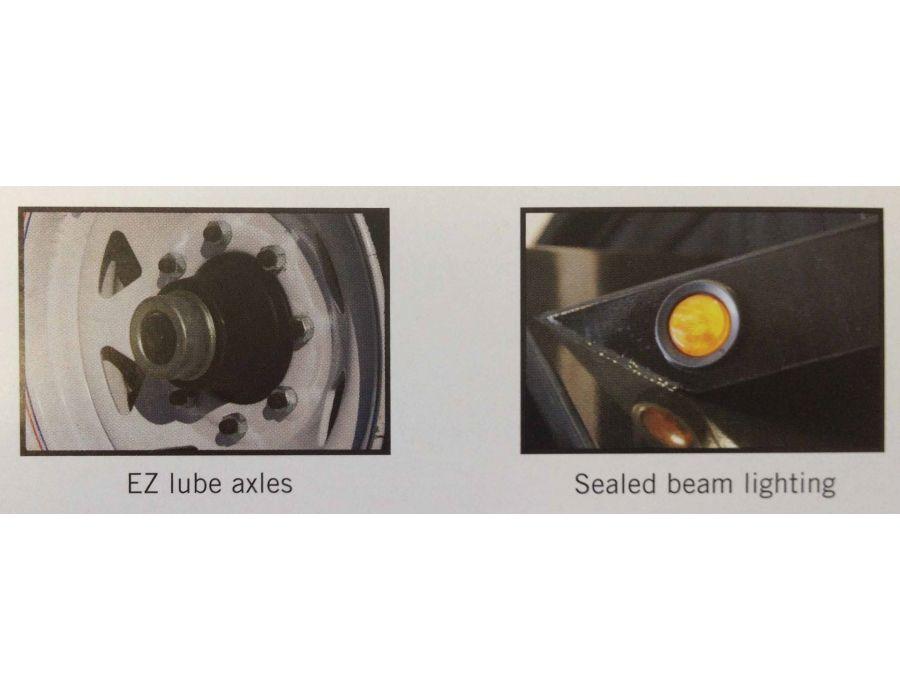"""JDJ All Purpose Tandem Trailer (6'8"""" W x 12' L) Model AP 7000 8012"""