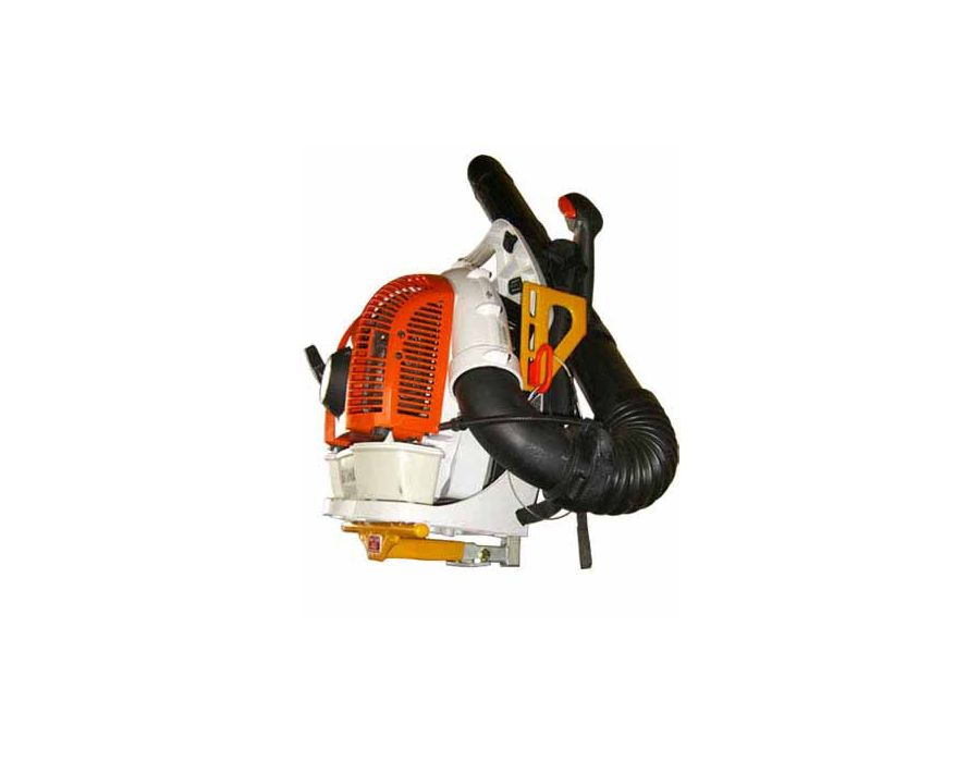 This backpack blower holder works for all makes and models of backpack blowers