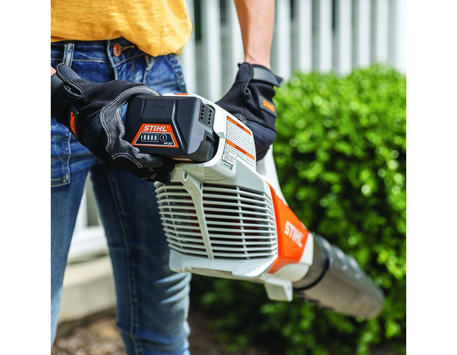 """The STIHL """"Caring for Nature"""" seal shows their products are more environmentally conscious, producing zero or low exhaust emissions."""