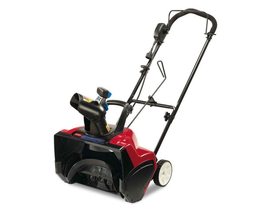 The Toro 38381 Snowthrower Electric 1800 Power Curve can clear up to 700 lbs of snow per minute with a throw distance of up to 30 feet!