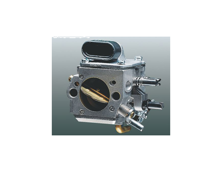 This controller in the carburettor prevents the fuel-air mixture getting richer as the air filter becomes clogged. The correct quantity of fuel is delivered to the carburettor depending on the quantity of air passing through the air filter. This keeps the