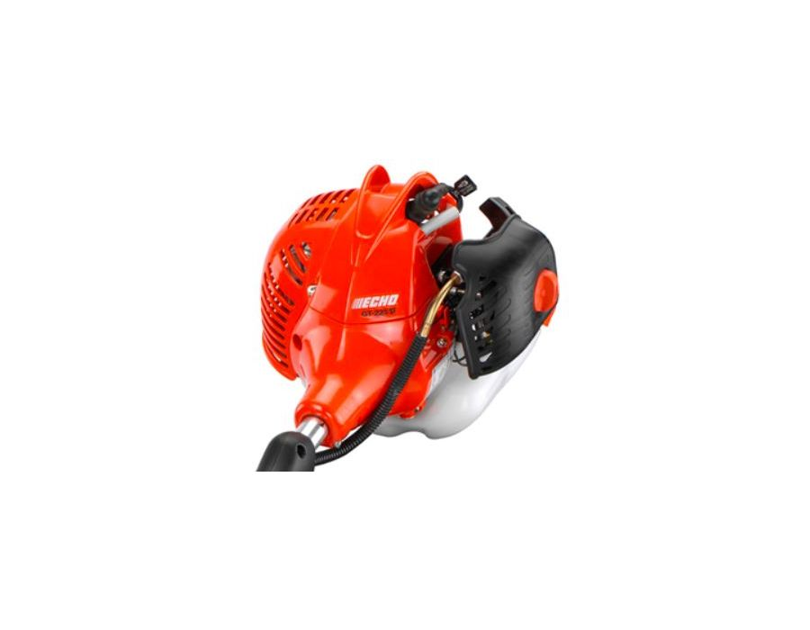The ECHO GT-225 SF Lightweight Curved Shaft Trimmer has a 21.2 cc professional-grade, 2-stroke engine for outstanding performance
