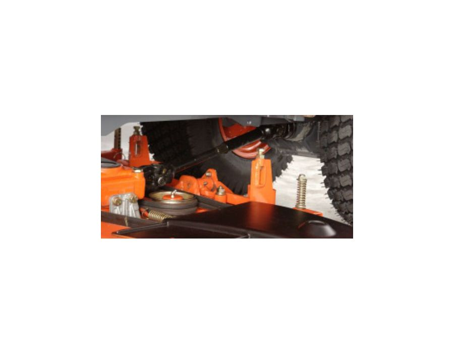 Implements such as the loader or mower can be attached and detached quickly and easily - saving you time and effort.