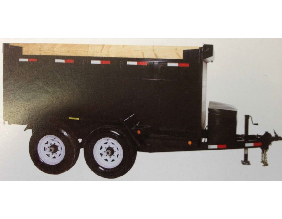 JDJ Heavy Duty Dump Tandem Trailer HDD 612 with 4' high sides (6' W x 12' L)