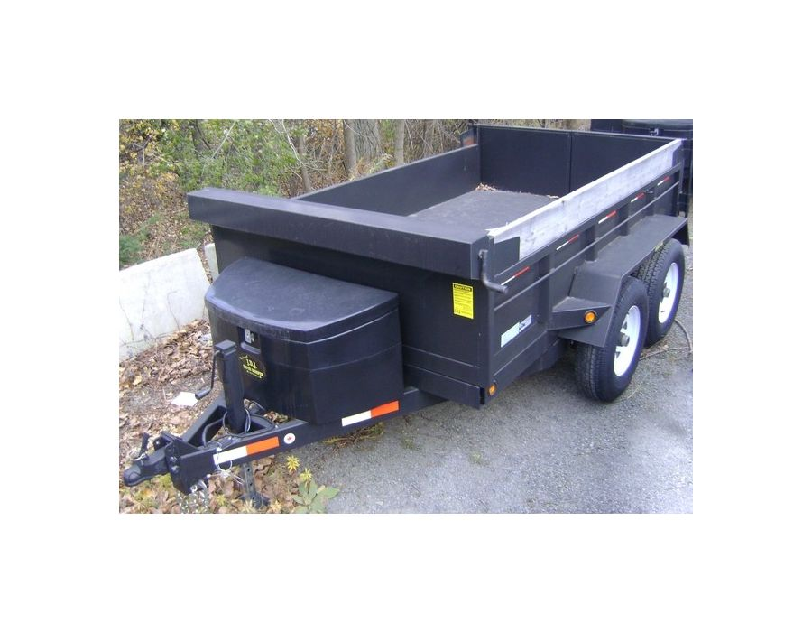 JDJ Heavy Duty Dump Tandem Trailer HDD 610 with 2' high sides (6' W x 10' L)