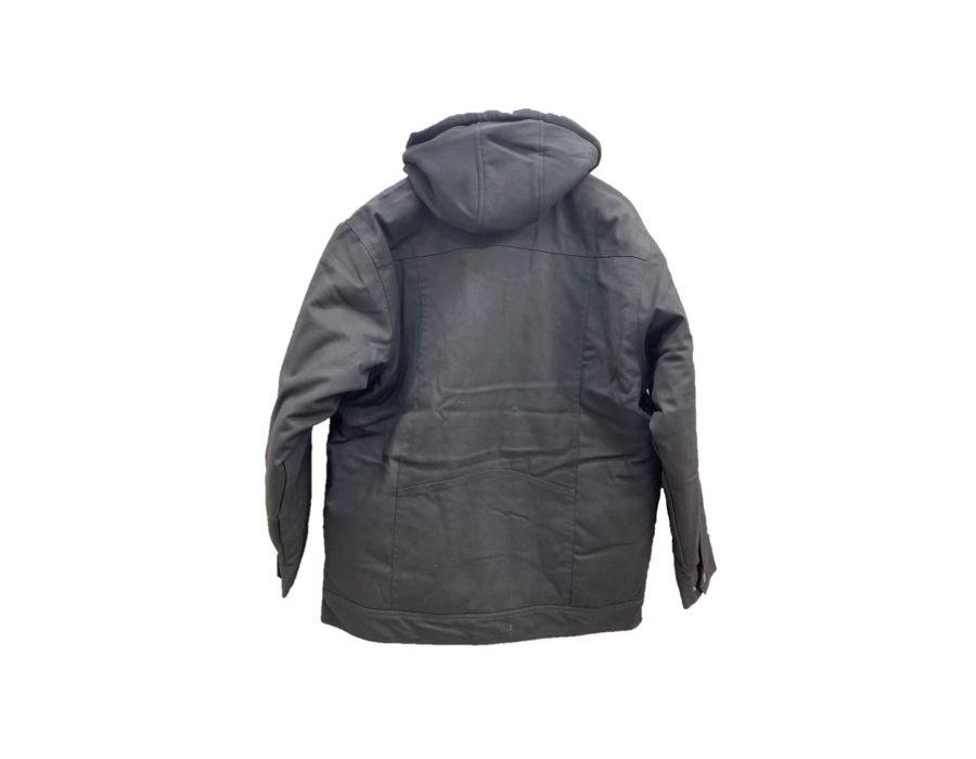 Kubota Jacket Canvas Black Reverse View