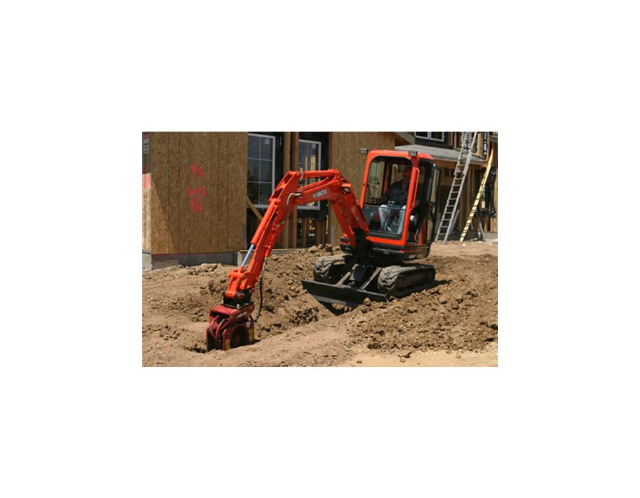 Kubota KX91-3GLS2 Cab Excavator at Work