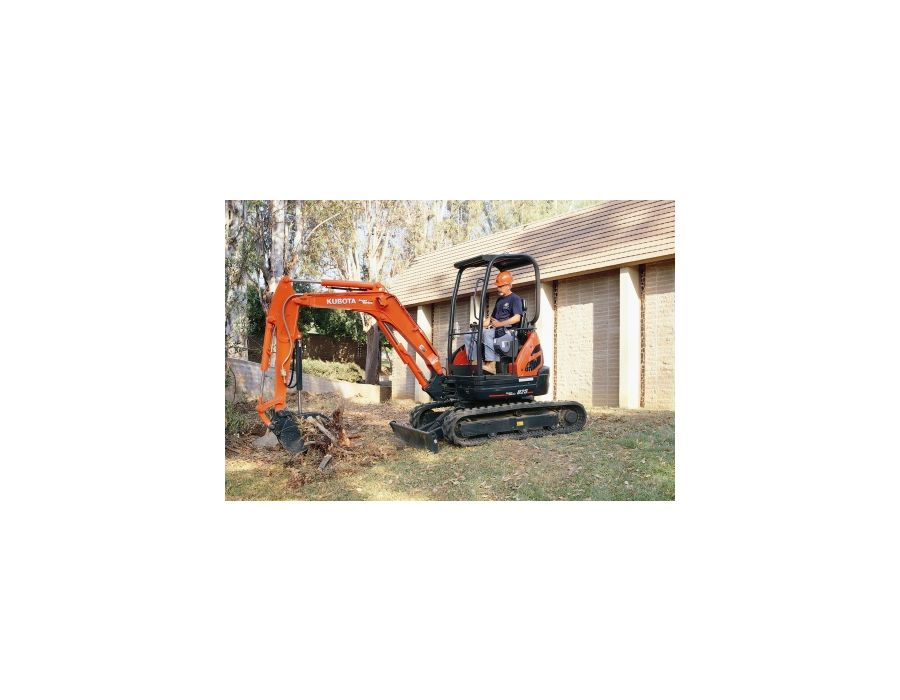 The Kubota U25-HGS Excavator comes with its larger engine and hydraulic pumps, and provides enhanced performance and faster cycle times
