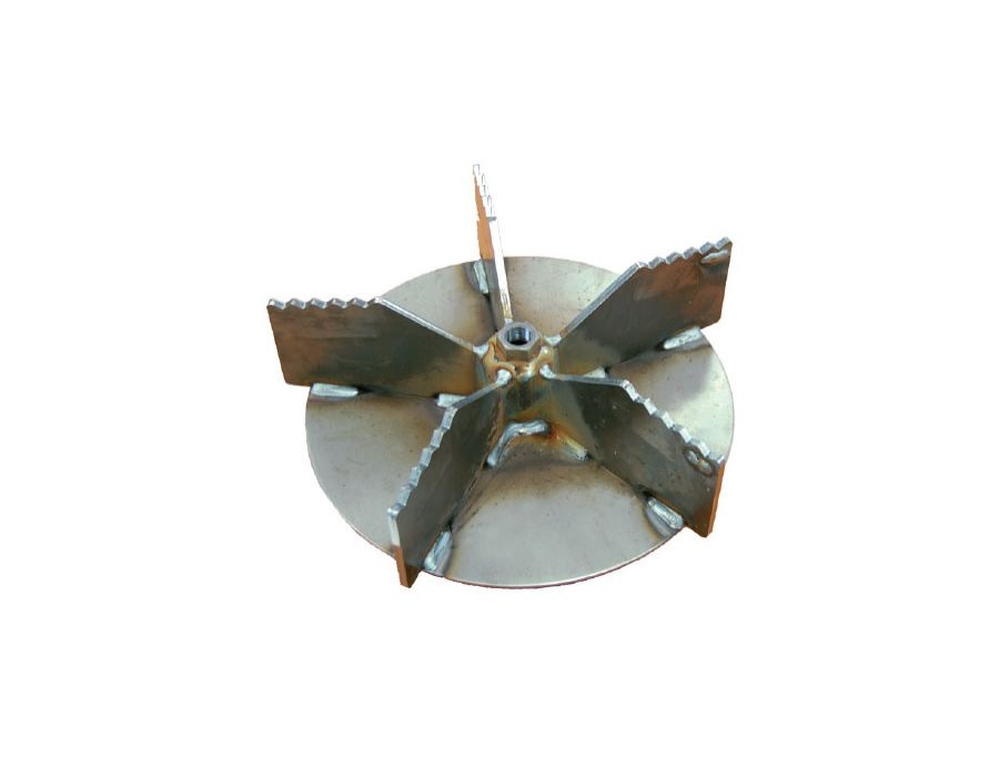 5-Blade Serrated Impeller - Composts and reduces debris up to 12 to 1.