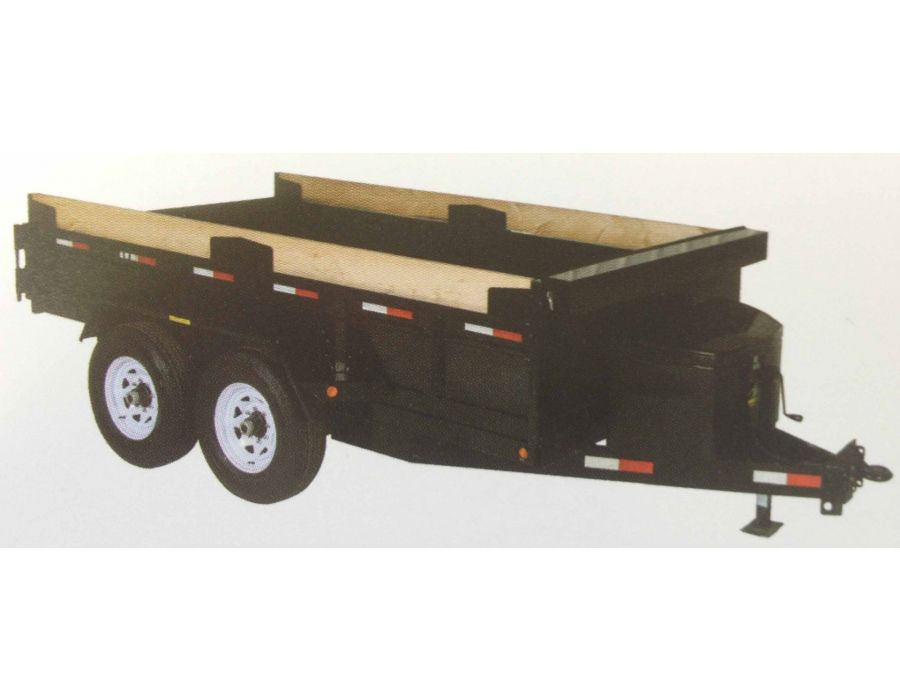 JDJ Medium Duty Dump Tandem Trailer