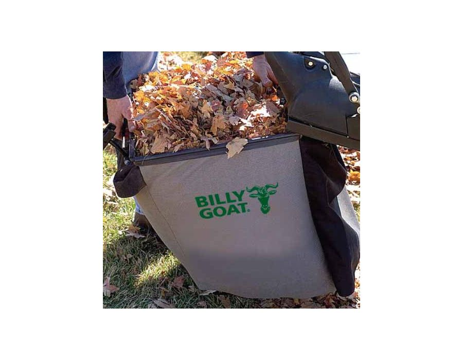 Unique Top Loading Bag - Slides in and out on rails for best in class unloading. 40-gallon bag holds up to 50 lbs of debris.