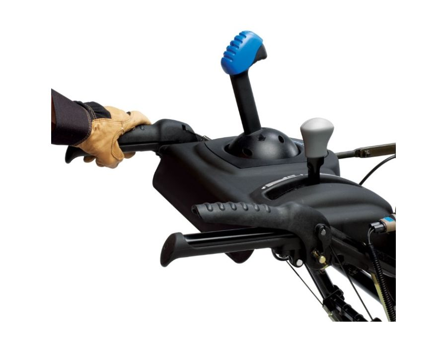 One-Hand Interlock -Convenient levers allow one-handed operation, freeing the other hand to shift speed or adjust chute without stopping the snowthrower.