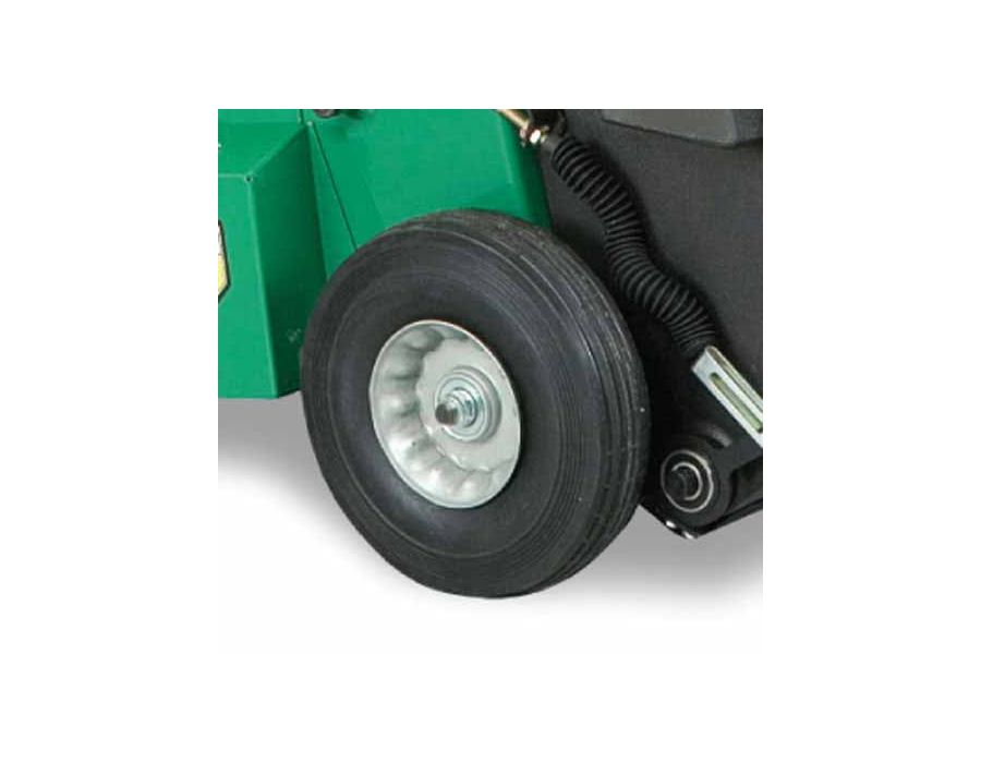 Heavy-Duty Wheels - Steel rim and roller bearings stand up to the most demanding customers and applications.