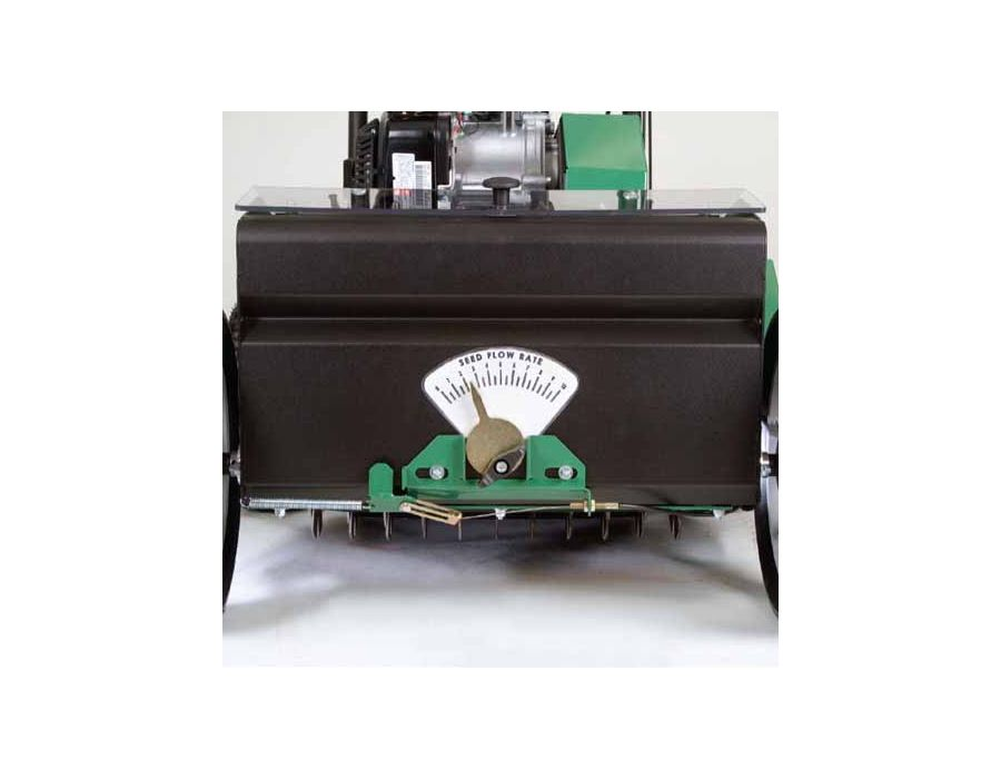 Elevated Seed Box - Prevents moisture from clogging the seed drop and provides excellent visibility. Axle driven seed agitator eliminates belts and tire-on-tire systems.