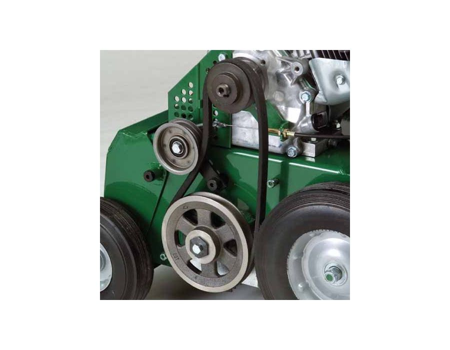 Premium Steel Pulleys, Easy to Adjust Idler & Easy to Change Belt - Contribute to simple service and long life. Protected by a steel guard.