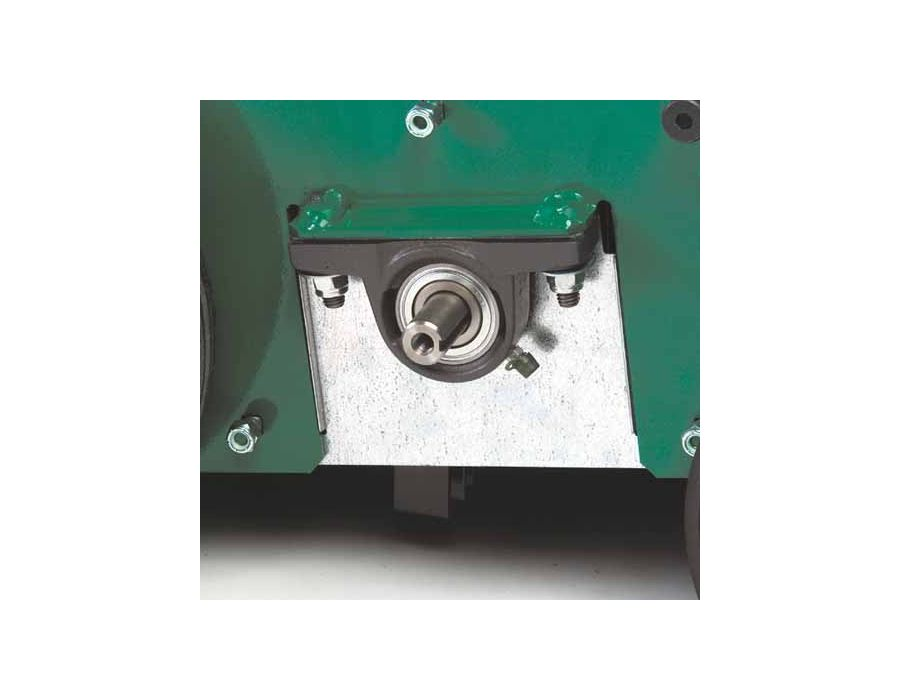 Cast Iron Pillow Block Bearings with Grease Zerks - Provide longer life vs. plastic