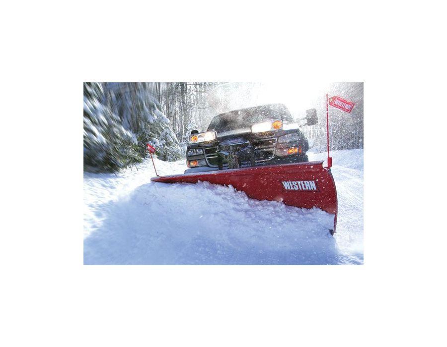 Western 8' Fleet Flex PRO Snowplow with Hand Held Controller