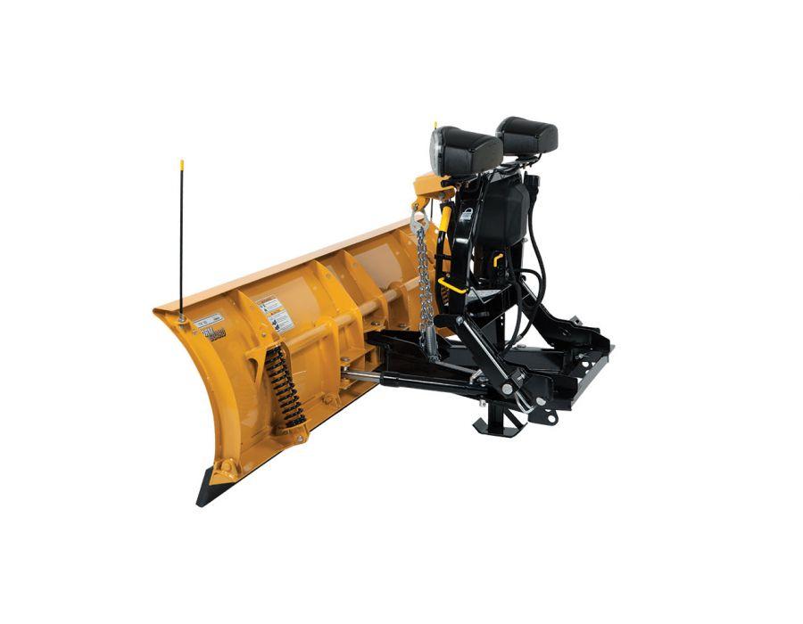 "Fisher 6'9"" Fleet Flex SD Plow Rear-View"