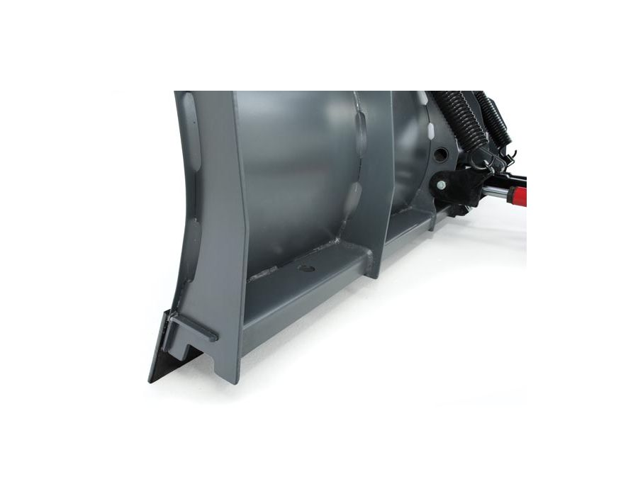The formed base channel is the backbone of the plow, built with high-strength steel and multiple angles for extra stability
