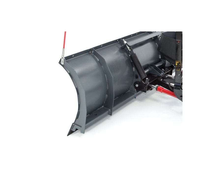 Plows are built with high-strength steel that is stronger and lighter than conven