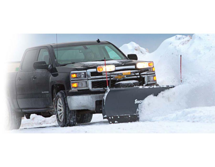 SnowEx Regular Duty 7600RD straight blade 7 foot 6 inch snowplow