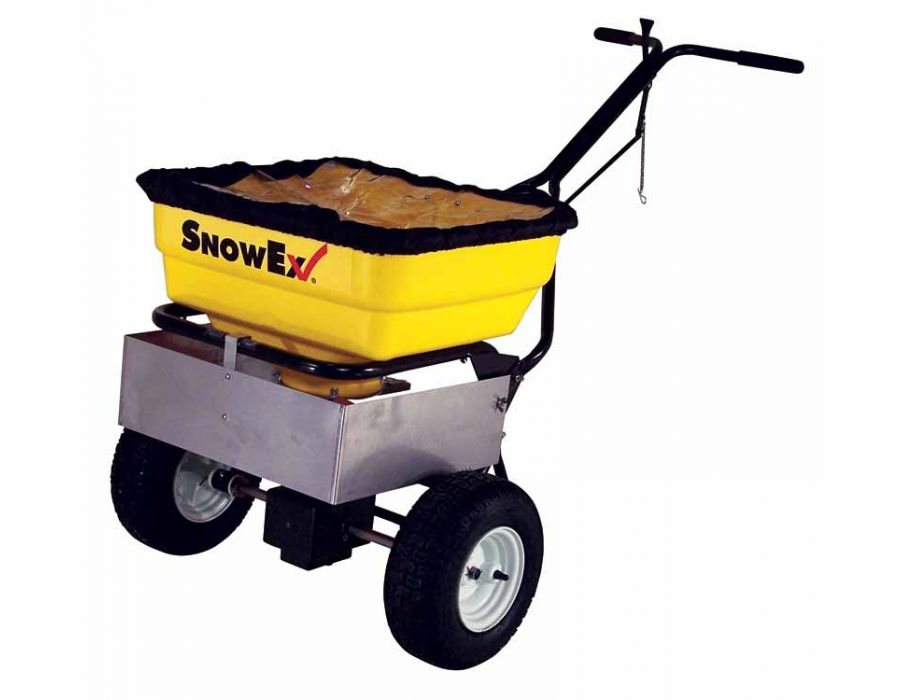 SnowEx 160 lbs Capacity Walk-behind Spreader with Stainless Steel Frame SP-85SS