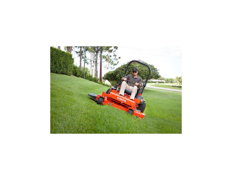 Outstanding Stability -  The Z700 Series mowers ensure a high level of stability due to the fuel tank located under the seat and large-diameter, wide tread rear tires.